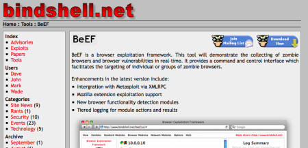Tool: New Version Of BeEF Released Today! | Liquidmatrix Security Digest